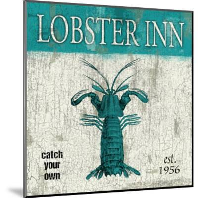 Lobster Teal-Jace Grey-Mounted Art Print