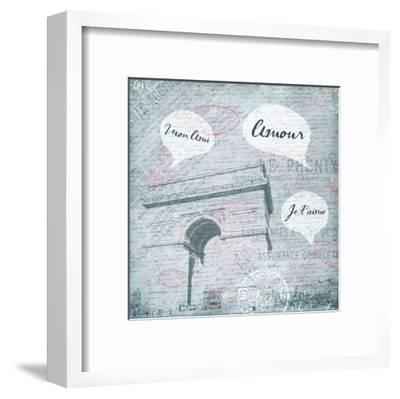 Amour-Jace Grey-Framed Art Print