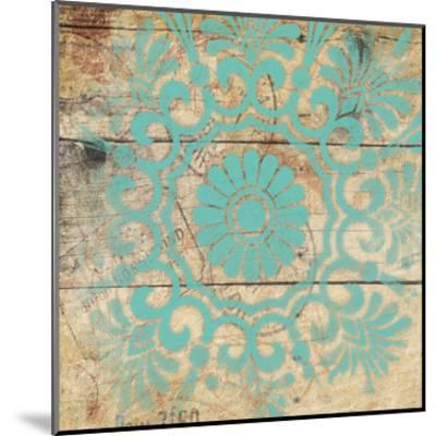 Turq Pattern 4-Jace Grey-Mounted Art Print