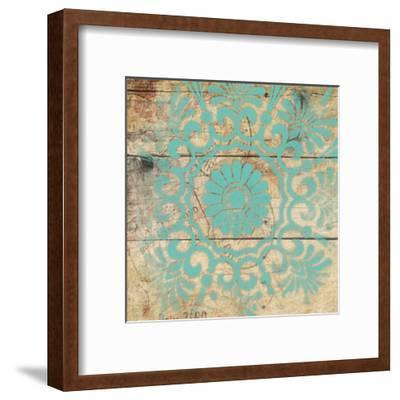 Turq Pattern 4-Jace Grey-Framed Art Print