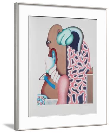 Untitled - Surrealist Portrait I-Jorg Reme-Framed Limited Edition