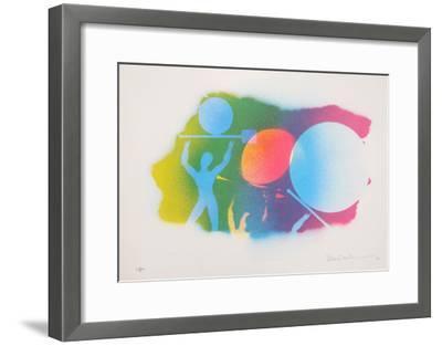 Autobiographical Sketches Portfolio 7-Emmett Williams-Framed Limited Edition