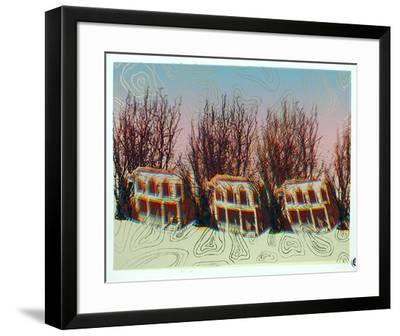 The Block with the Prismatic Afro Tree-Cindy Wolsfeld-Framed Limited Edition