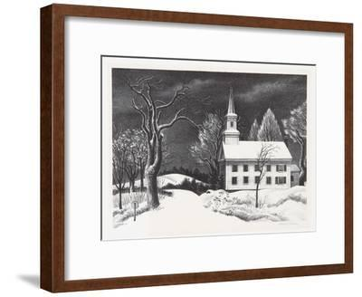 New Snow-Ernest Fiene-Framed Collectable Print