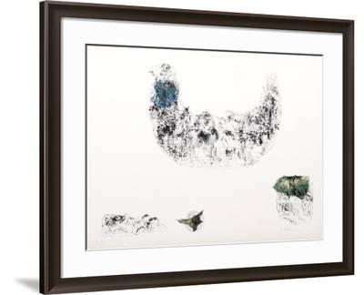 Horses - Variation 9 (Blue and Green)-Lebadang-Framed Collectable Print