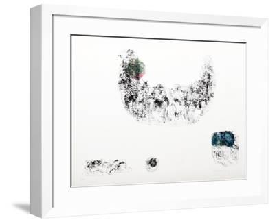 Horses - Variation 11 (Green, Pink and Blue)-Lebadang-Framed Collectable Print