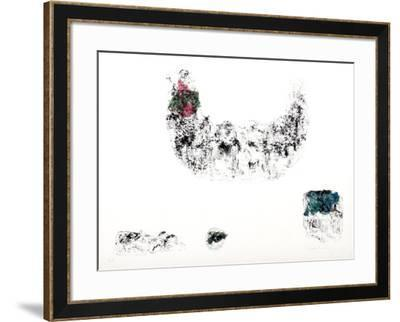 Horses - Variation 3 (Pink, Green, and Blue)-Lebadang-Framed Collectable Print