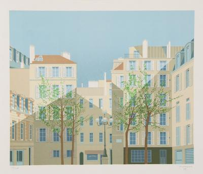 Paris - La Place de Furstemberg-Manolo Tarazona-Framed Limited Edition
