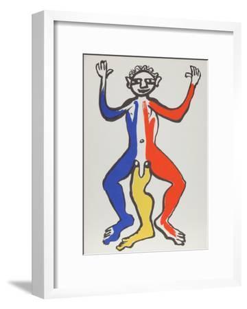 Derrier le Miroir (Acrobat (Blue, Yellow, Red))-Alexander Calder-Framed Collectable Print