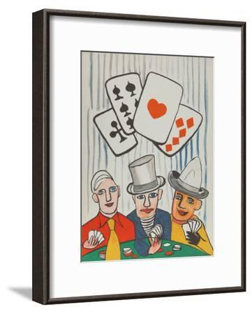 Three Card Players-Alexander Calder-Framed Collectable Print