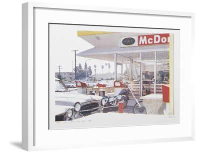 VIII - Store Front (Side) from One Culture Under God-Larry Stark-Framed Serigraph