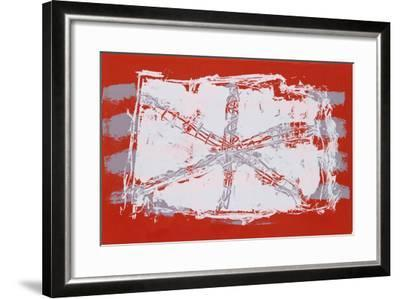 Untitled VII - Red Sand Dollar-Lea Nikel-Framed Limited Edition