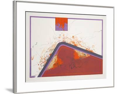 Dialogue with Mindmap 15-Kyme Sarlei-Framed Serigraph