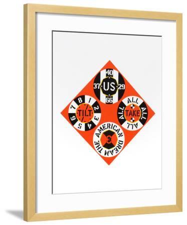 Red Diamond (from the American Dream Portfolio)-Robert Indiana-Framed Serigraph