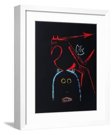 Comité France-Amérique Latine-Wilfredo Lam-Framed Serigraph