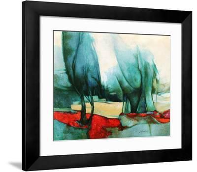p - Les grands arbres-Claude Gaveau-Framed Premium Edition