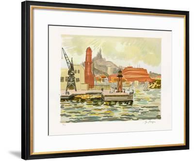 Marseille : Fort Saint Nicolas-Yves Brayer-Framed Limited Edition