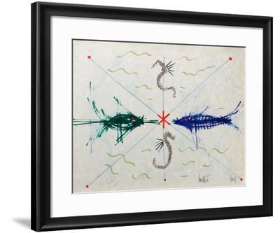 L'âge du verseau : poissons et hyppo-Jean Cocteau-Framed Premium Edition