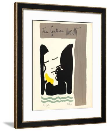 L'âge du verseau : titre-Jean Cocteau-Framed Premium Edition