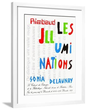Expo 74 - Bibliothèque Nationale-Sonia Delaunay-Terk-Framed Collectable Print