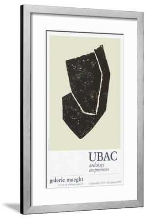 Expo Galerie Maeght 80-Raoul Ubac-Framed Collectable Print