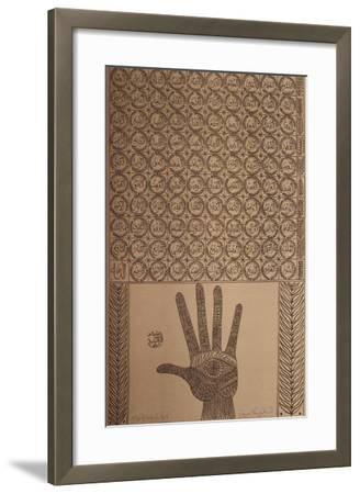 Hommage à Farid Ed-dine Attar I-Rachid Koraichi-Framed Limited Edition
