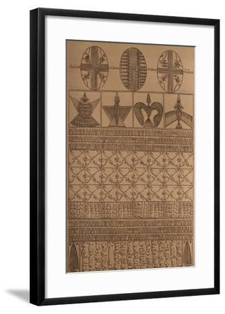 Hommage à Farid Ed-dine Attar II-Rachid Koraichi-Framed Limited Edition