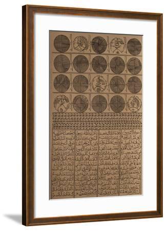 Hommage à Farid Ed-dine Attar IV-Rachid Koraichi-Framed Limited Edition