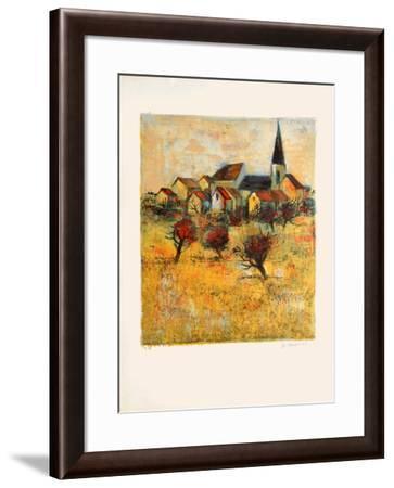 Le village II-Michel Jouenne-Framed Collectable Print