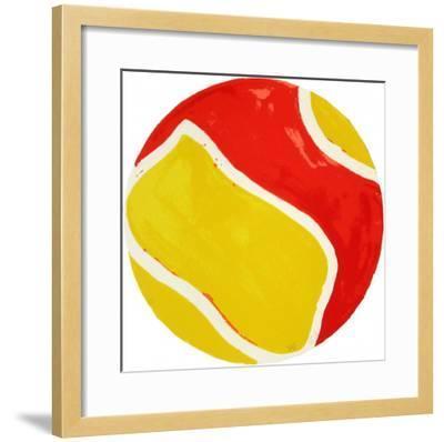 Tondo Ying-yang II-Claude Viallat-Framed Limited Edition