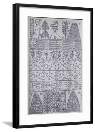 Hommage à Ibn Ata Allah Iskandari VII-Rachid Koraichi-Framed Limited Edition