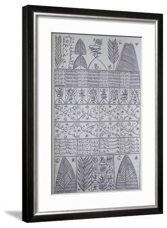 Hommage à Ibn Ata Allah Iskandari VII-Rachid Koraichi-Framed Limited Edition