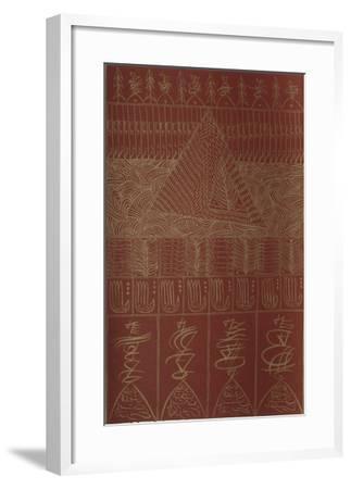 Hommage à Ibn El Arabi II-Rachid Koraichi-Framed Limited Edition