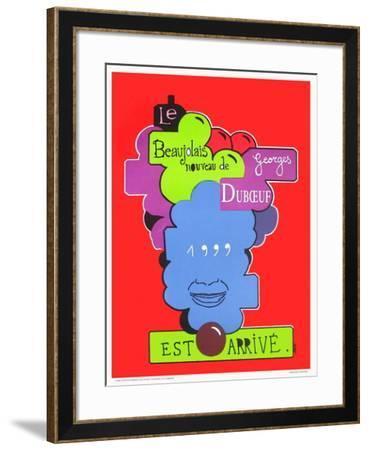 Beaujolais nouveau Georges Duboeuf-Jean Michel Alberola-Framed Collectable Print