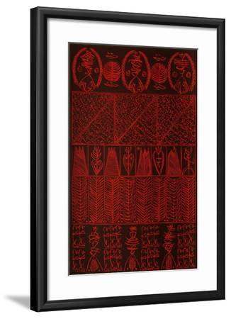 Hommage à Hallaj VIII-Rachid Koraichi-Framed Limited Edition