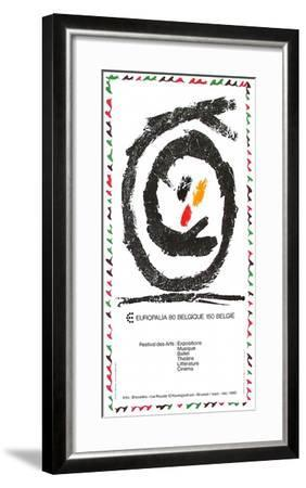 Expo 080 - Europalia II-Pierre Alechinsky-Framed Collectable Print
