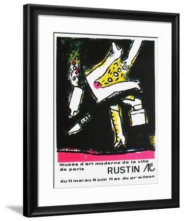 Expo Musée d'Art Moderne Paris-Jean Rustin-Framed Collectable Print