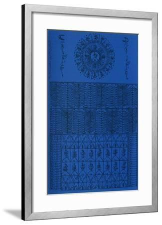 Hommage à Rabia Al Adawiyya III-Rachid Koraichi-Framed Limited Edition