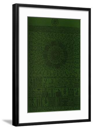 Hommage à Cheikh Al Alawi Al Moustaghanami V-Rachid Koraichi-Framed Limited Edition