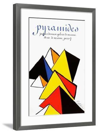 Expo 80 - Galerie Jacques Damase Pyramides-Alexander Calder-Framed Collectable Print