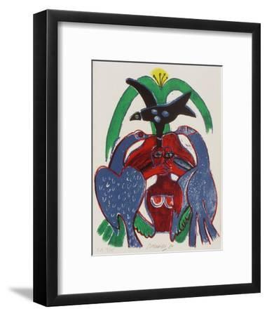 Femmes et oiseaux 5-Guillaume Corneille-Framed Collectable Print