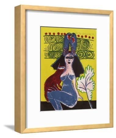 Femmes et oiseaux 7-Guillaume Corneille-Framed Collectable Print