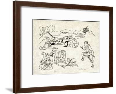 PA - Le tigre des Ming 11-Charles Lapicque-Framed Limited Edition