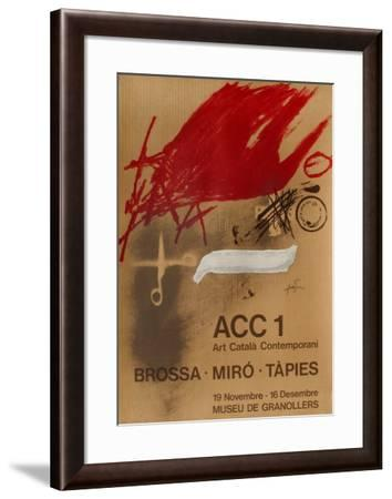 Expo 77 - Museu de Granollers-Antoni Tapies-Framed Collectable Print
