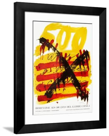 Expo 74 - 500 anys del Llibre Catala-Antoni Tapies-Framed Collectable Print