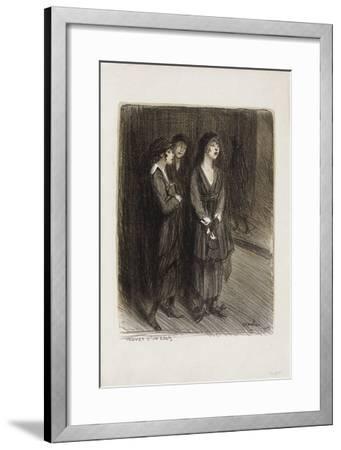 Veuves d'un Louis-Th?ophile Alexandre Steinlen-Framed Collectable Print