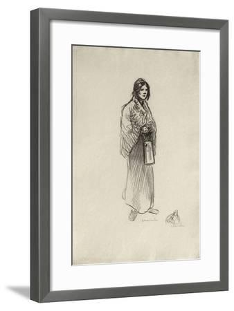 Le lait II-Th?ophile Alexandre Steinlen-Framed Limited Edition