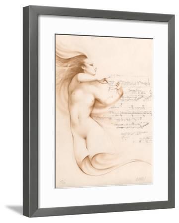 Muse I (ocre)-Gerard Daran-Framed Limited Edition