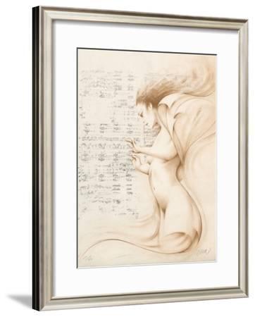 Muse II (ocre)-Gerard Daran-Framed Limited Edition