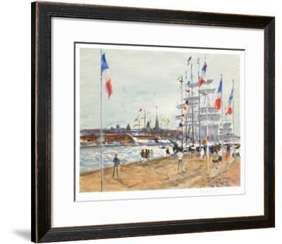 Les quais à Rouen-Gaston Sebire-Framed Limited Edition